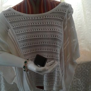 Express white sweater small
